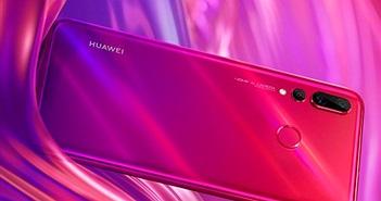 Huawei đăng hình ảnh quảng cáo Nova 4 với màu gradient đỏ tím