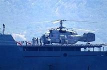 [Video] Trực thăng Ka-28 của Việt Nam hạ cánh trên tàu hộ vệ tên lửa