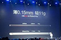 Xiaomi trình làng phablet Mi Note cạnh tranh với iPhone 6 Plus