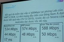 VinaPhone thử nghiệm 4G tốc độ đạt xấp xỉ 600Mbps tại TP.HCM