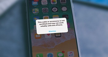 Khắc phục sự cố cáp hoặc phụ kiện không được chứng nhận khi kết nối iPhone