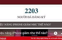 Hơn 2.200 người ký tên trong vụ luật sư Việt Nam kiện Apple làm chậm iPhone cũ