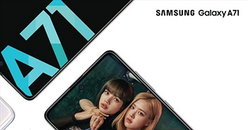 Samsung Galaxy A71 ra mắt: 4 camera sau 64MP và macro chụp cận cảnh