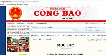 Website tỉnh Hà Nam có link mạng cá độ bóng đá quốc tế