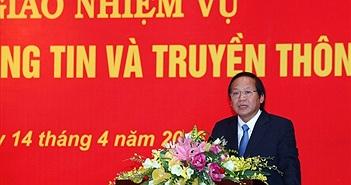 Bộ trưởng Bộ TT&TT Trương Minh Tuấn chính thức nhận bàn giao nhiệm vụ