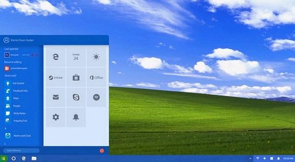 """Windows XP sẽ """"lột xác"""" như thế nào nếu được ra mắt trong năm 2018?"""