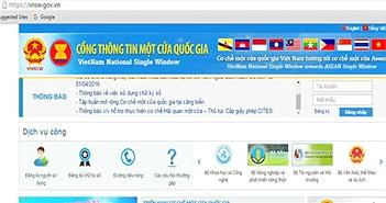 Áp dụng cơ chế một cửa quốc gia với kiểm tra chất lượng hàng nhập khẩu