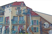 [Hình ảnh] Vẽ hình 3D lên tường để tạo sức sống cho những tòa nhà