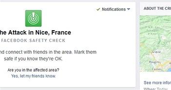 Khủng bố tại Pháp: Facebook kích hoạt tính năng Kiểm tra an toàn