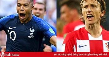 Địa chỉ xem Pháp vs Croatia trực tiếp trên VTV6 & VTV6HD