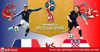 """Dự đoán kết quả trận đấu tranh giải nhất Pháp vs Croatia ngày 15/7 của """"tiên tri"""" cá đen"""