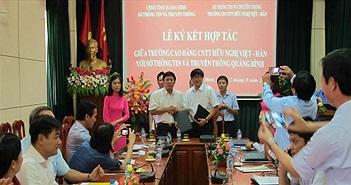Cao đẳng Việt - Hàn hợp tác các tỉnh miền Trung phát triển nguồn nhân lực