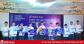 Sinh viên FPT đạt giải nhất thi lập trình Samsung Collegiate Programming Cup 2017 Việt Nam