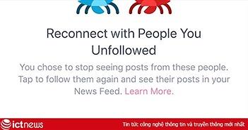Cách xem những người đã bỏ theo dõi trên Facebook cho iPhone