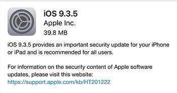 Vì sao cần cập nhật ngay iOS 9.3.5 cho iPhone?