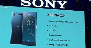 Sony Xperia XZ1 về Việt Nam: Quét ảnh 3D Creator, giá 16 triệu đồng cho bản 64GB