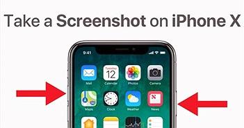 Mất nút Home rồi, làm sao để chụp màn hình trên iPhone X?