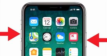 Cách chụp ảnh màn hình trên iPhone X khi không còn nút Home