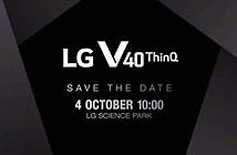 LG công bố ngày ra mắt chính thức V40 ThinQ
