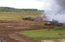 Cực sướng mắt xem xe tăng T-72B3M vừa bay vừa nã pháo trên không