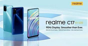 Realme C17 sắp bán: màn hình 90Hz, RAM 6GB, pin 5000 mAh, 4 camera, giá rẻ