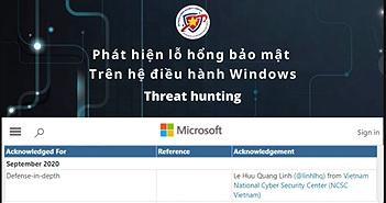 Chuyên gia bảo mật Việt phát hiện lỗ hổng nguy hiểm trên hệ điều hành Windows
