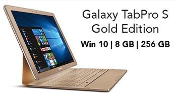 Samsung Galaxy TabPro S Gold Edition: nâng cấu hình lên 8 GB RAM và 256 GB SSD, giá 999,99 USD