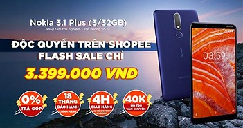 Nokia 3.1 Plus chính thức lên kệ thị trường Việt giá 3.890.000 VND