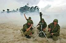 Lính dù Nga tập trận ở quần đảo tranh chấp với Nhật