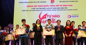 """400.000 thí sinh tham dự cuộc thi tìm hiểu lịch sử """"Tự hào Việt Nam"""""""
