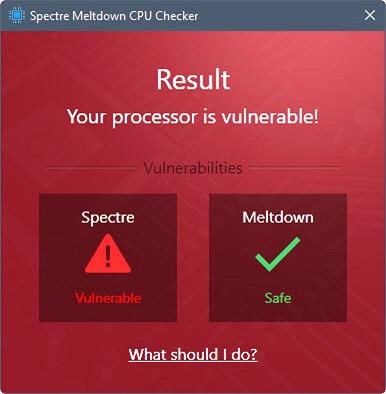 Công cụ giúp kiểm tra Windows có bị lỗi Spectre và Meldown hay không
