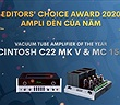Editors' Choice Awards 2020 - McIntosh C22 MK5 & MC 1502 - Ampli đèn của năm
