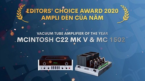 Editors' Choice Awards 2020 - McIntosh C22 MK5 & MC 1502 - Ampli đèn của năm