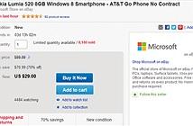 Microsoft bán Lumia 520 trên eBay với mức giá 'rẻ như cho'