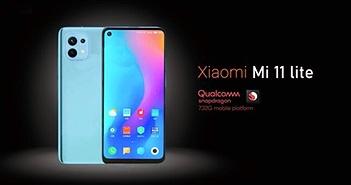 """Hình ảnh mới của Xiaomi Mi 11 Lite """"khoe"""" màn hình phẳng phía trước"""
