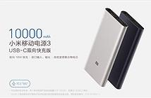 Xiaomi ra mắt Mi Power 3: 10.000mAh, sạc nhanh 2 chiều USB-C 18W, giá 19 USD