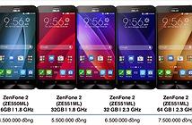 Giá dự kiến của ZenFone 2 tại VN: từ 4,5 - 7,5 triệu đồng