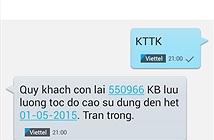 Hướng dẫn tra dung lượng 3G Viettel, VinaPhone, MobiFone qua SMS