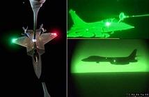 ẢNH: Máy bay Mỹ - Pháp tiếp dầu ban đêm, không kích IS