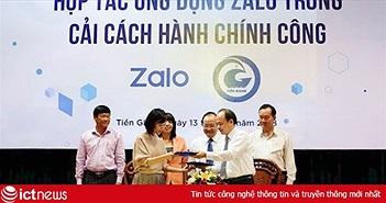 Tiền Giang ứng dụng Zalo vào xây dựng mô hình Đô thị thông minh