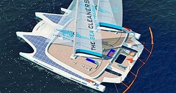 """Tàu Manta - """"ngôi sao"""" trong dự án thu gom chất thải dẻo ở đại dương"""