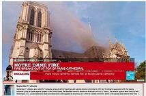 YouTube nhầm vụ cháy Nhà thờ Đức Bà ở Paris là khủng bố 11/9