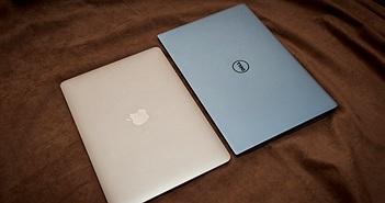 Ảnh so sánh hai siêu mẫu MacBook 12 và Dell XPS 13