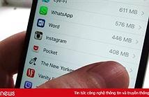 """iPhone hết bộ nhớ là do ứng dụng ngày càng """"tham"""""""