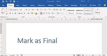 Cách sử dụng tính năng Mark as Final trên Microsoft Word