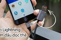 [Trên tay & Tặng] Cáp sạc Lightning tích hợp đầu đọc thẻ microSD trong chân cắm - Energea ALUMEMO