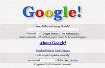 Google.com vừa đón sinh nhật thứ 20