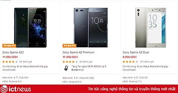 Sau LG, Sony sắp dừng bán smartphone ở Việt Nam?