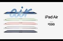 iPad Air 4: nhiều màu, nút nguồn vân tay, Apple A14 5nm, USB-C, giá từ 599 USD