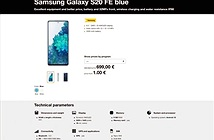 Lộ giá bán Samsung Galaxy S20 FE
